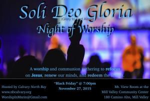 Black Friday Worship 2015 postcard